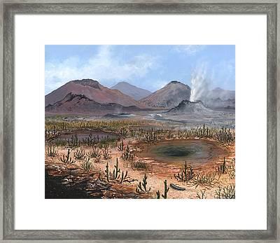 Late Devonian Landscape, Artwork Framed Print by Richard Bizley