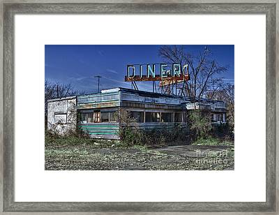 Late For Dinner. Abandoned Empty Diner. Framed Print by Robert Wirth