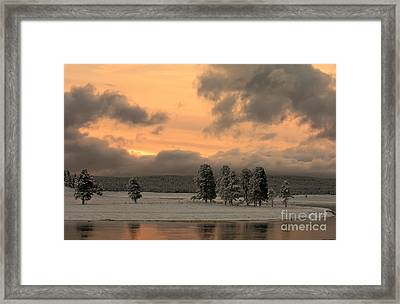 Late Spring Storm In Yellowstone Framed Print by Sandra Bronstein