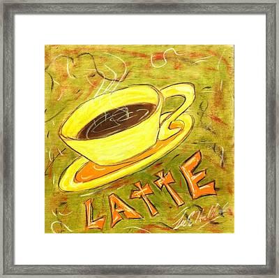 Latte Framed Print by Lee Halbrook