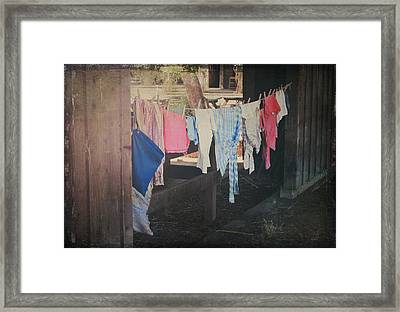 Laundry Day Framed Print by Laurie Search