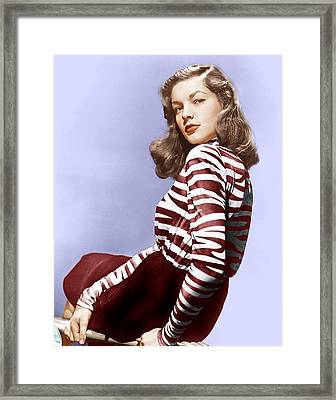 Lauren Bacall, Ca. 1944 Framed Print by Everett