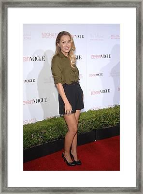 Lauren Conrad At Arrivals For Teen Framed Print by Everett