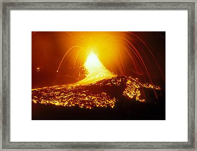 Lava Flow And Vent Framed Print by Dr Juerg Alean
