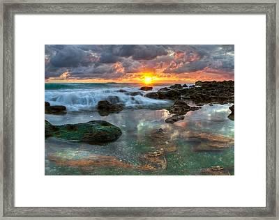 Lava Flow Framed Print by Debra and Dave Vanderlaan