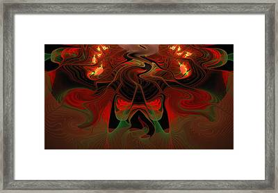 Red Hot Lava Framed Print by Georgiana Romanovna