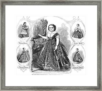 Lavinia Warren Bumpus Framed Print by Granger