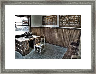 Law Man's Office - Molson Ghost Town Framed Print by Daniel Hagerman