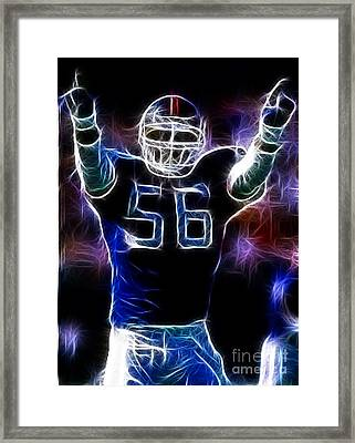 Lawrence Taylor  Framed Print by Paul Ward