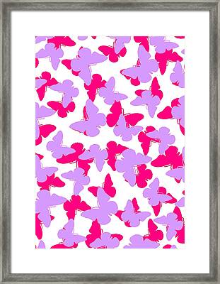 Layered Butterflies  Framed Print by Louisa Knight