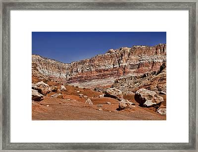 Layered Cliffs Framed Print by Jon Berghoff