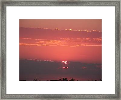 Layered Sunset  Framed Print by Brian  Maloney