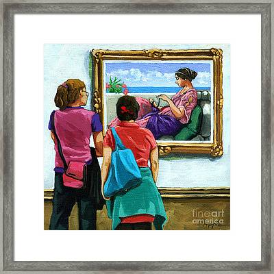 Layers - Figurative Oil Painitng Framed Print by Linda Apple