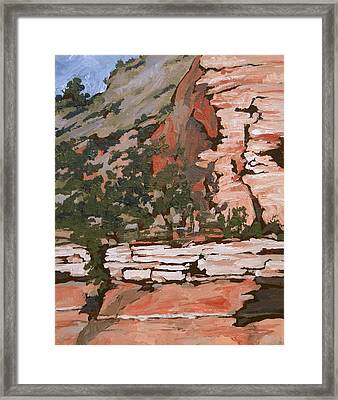 Layers Framed Print by Sandy Tracey