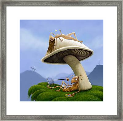 Le Artiste  Framed Print by Jephyr Art