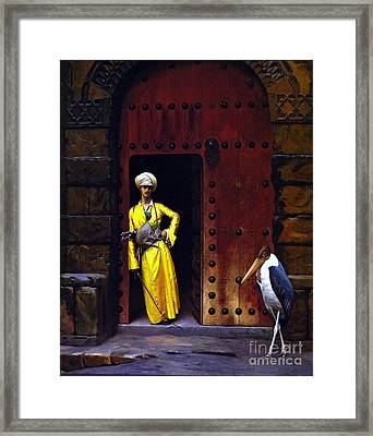 Le Marabou Framed Print by Pg Reproductions