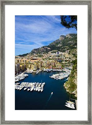 Le Port De Fontvieille Framed Print by Patrice Coppee