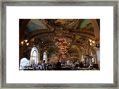 Le Train Bleu Framed Print by Andrew Fare