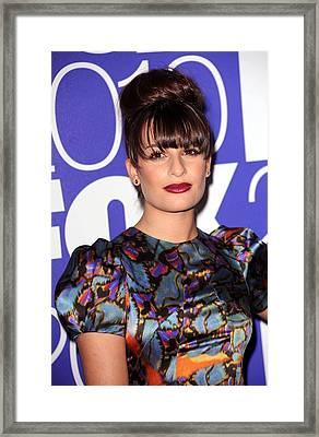 Lea Michele In Attendance For Fox 2010 Framed Print by Everett