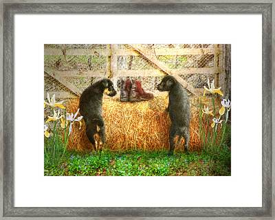 Lead Me Not Into Temptation  Framed Print by Trudi Simmonds