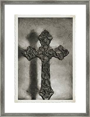Lead Me To The Cross 4 Framed Print by Angelina Vick