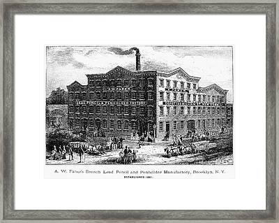 Lead Pencil Factory Framed Print by Granger