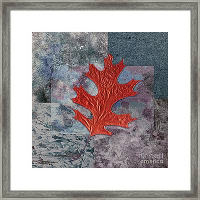 Leaf Life 01 - T01b Framed Print by Variance Collections