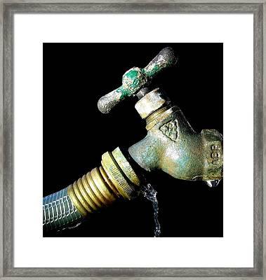 Leaky Spigot Framed Print by Scott Brown