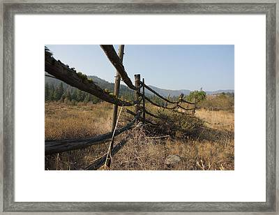 Leaning Fence  Framed Print by Jeannine Welfelt
