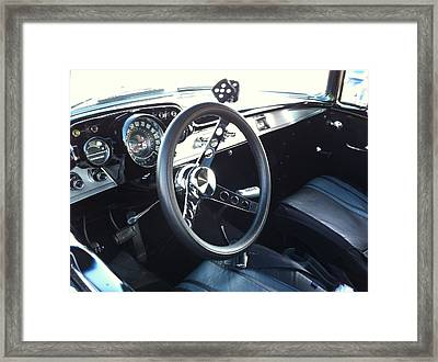 Leather Interior Framed Print by Tammy Rekito