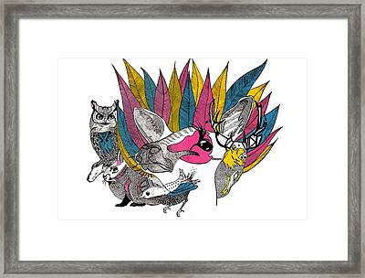 Leaves And Animals Framed Print by JF Mondello