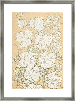 Leaves From Nature Framed Print by Christopher Dresser