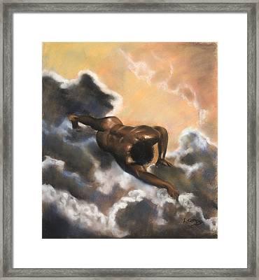 Leaving Eden  Adam Framed Print by L Cooper