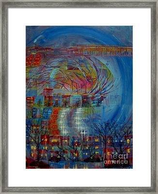 Leaving Home Commuting To Work And Returning Home Framed Print by Contemporary Luxury Fine Art