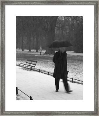 Leaving Framed Print by Marcio Faustino
