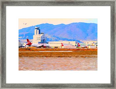 Leaving On A Jet Plane . 7d12335 Framed Print by Wingsdomain Art and Photography