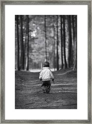 Leaving Framed Print by Waldek Dabrowski