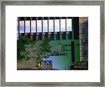 L'echelle Humaine Framed Print by Contemporary Luxury Fine Art