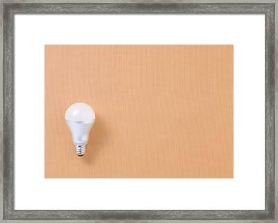 Led Bulb Framed Print by sozaijiten/Datacraft