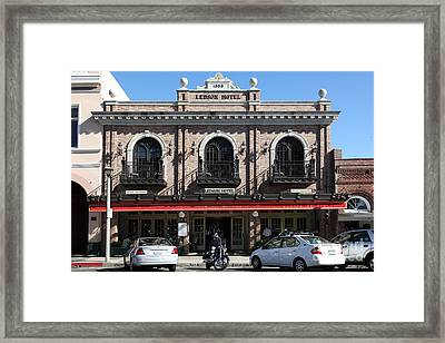 Ledson Hotel - Downtown Sonoma California - 5d19268 Framed Print by Wingsdomain Art and Photography