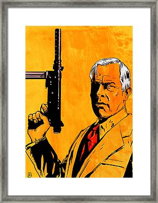 Lee Marvin Framed Print by Giuseppe Cristiano