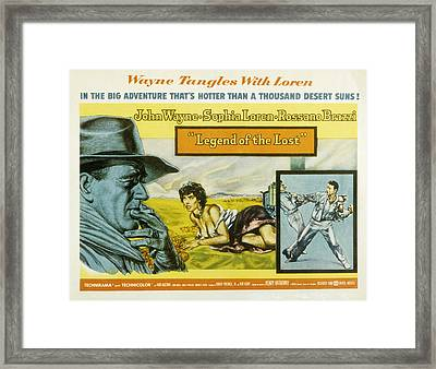 Legend Of The Lost, John Wayne, Sophia Framed Print by Everett
