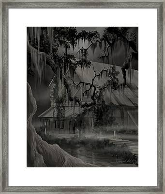 Legend Of The Old House In The Swamp Framed Print by James Christopher Hill