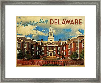Legislative Hall Delaware Framed Print by Flo Karp