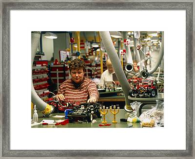 Lego Construction Framed Print by Volker Steger