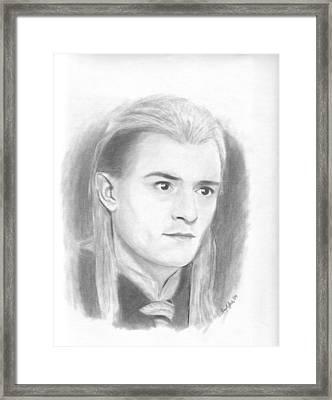 Legolas Framed Print by Amy Jones