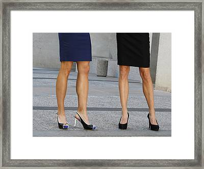 Legs Of Femininity Framed Print by Capology Fare