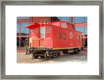 Lehigh And New England Caboose Framed Print by Clarence Holmes
