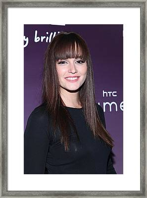 Leighton Meester In Attendance For Htc Framed Print by Everett