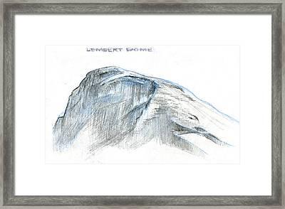 Lembert Dome At Noon Framed Print by Logan Parsons